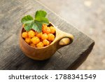 Cloudberries In Wooden Kuksa...