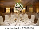 beautiful table decorated for... | Shutterstock . vector #17883559