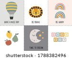Set Of Bohemian Baby Icons With ...