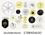 set of signs for organic and... | Shutterstock .eps vector #1788404630