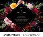 luxurious dark frame arranged...   Shutterstock .eps vector #1788406070