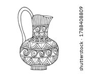 greek  vase. coloring page....   Shutterstock .eps vector #1788408809