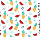 bright vector seamless pattern... | Shutterstock .eps vector #1788421229