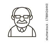 grandfather cartoon line style...   Shutterstock .eps vector #1788426443