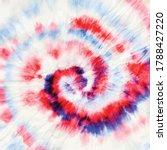 red spiral tie dye. hippie... | Shutterstock .eps vector #1788427220