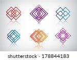 set of vector abstract...   Shutterstock .eps vector #178844183