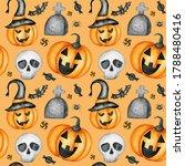happy halloween seamless... | Shutterstock . vector #1788480416