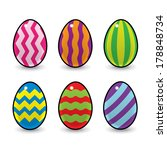 Six Colourful Easter Eggs...