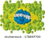 brazil flag made of people... | Shutterstock .eps vector #178849700