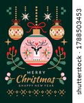 christmas and new year greeting ...   Shutterstock .eps vector #1788503453
