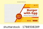 Burger With Egg Banner Template ...