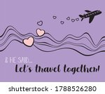 vector airplane travel simple... | Shutterstock .eps vector #1788526280