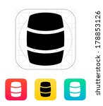 beer barrel icon. vector... | Shutterstock .eps vector #178853126