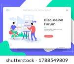 discussion forum vector...