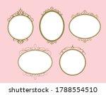 elegant and girly circle frames | Shutterstock .eps vector #1788554510