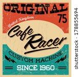 cafe racer   vintage motorcycle ... | Shutterstock .eps vector #178855694