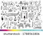 vector illustration of doodle... | Shutterstock .eps vector #1788561806