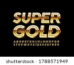 vector super gold shiny font....   Shutterstock .eps vector #1788571949
