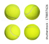 Tennis Ball Collection Isolated ...
