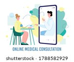 remote medical consultation of...   Shutterstock .eps vector #1788582929