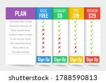 set of pricing plans. templates ...