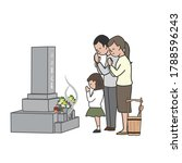 the family who is doing a visit ... | Shutterstock .eps vector #1788596243