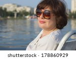 portrait of a woman on the... | Shutterstock . vector #178860929