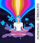 mindfullness yoga meditation... | Shutterstock .eps vector #1788626393