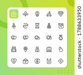 environtment icon pack isolated ...