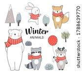 draw illustration set animals... | Shutterstock .eps vector #1788639770