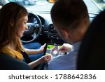 Car Instructor Teaching Student ...
