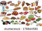 food vector collection. | Shutterstock .eps vector #178864580