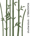 background with bamboo stems.... | Shutterstock .eps vector #1788650456