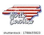 american flag in north carolina ...   Shutterstock .eps vector #1788655823
