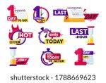 time left set. isolated clock ...   Shutterstock .eps vector #1788669623