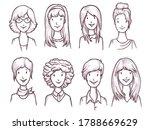 woman sketch avatar. fashion... | Shutterstock .eps vector #1788669629