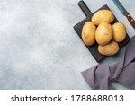 Several Tubers Of Raw Potatoes...