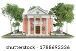 front view on classic bank... | Shutterstock . vector #1788692336