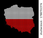 polish flag on map made from... | Shutterstock .eps vector #1788701576
