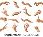 collection of isolated woman's... | Shutterstock . vector #178870268