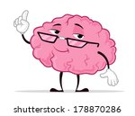 professor brain | Shutterstock .eps vector #178870286
