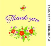 card with flowers and the words ... | Shutterstock .eps vector #178870916