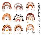 set of boho rainbows. cliparts... | Shutterstock .eps vector #1788718286