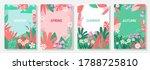 vector set four seasons  winter ... | Shutterstock .eps vector #1788725810