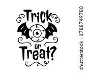 trick or treat emblem happy... | Shutterstock .eps vector #1788749780