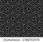 vector seamless swirl hexagon...   Shutterstock .eps vector #1788752570