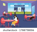 people having lunch in separate ... | Shutterstock .eps vector #1788758006