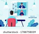 back view of businessman having ... | Shutterstock .eps vector #1788758039
