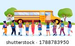 back to school or first day at... | Shutterstock .eps vector #1788783950