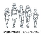 back to school or first day at... | Shutterstock .eps vector #1788783953